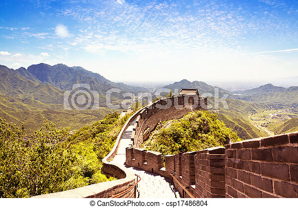 Gran muro de porcelana - csp17486804