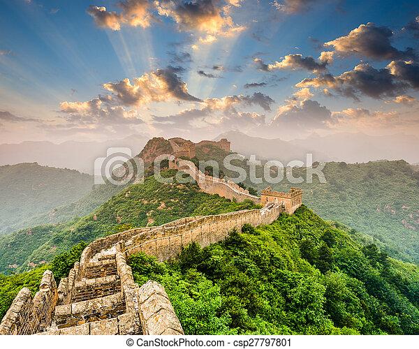 pared, grande, china - csp27797801