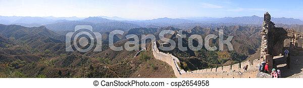 pared, grande, china - csp2654958