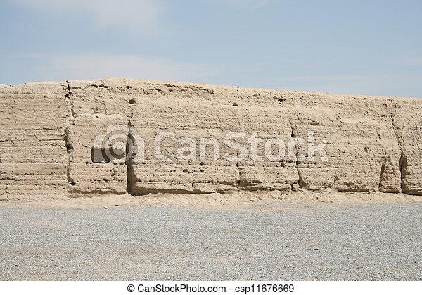 Han dinastía china gran pared - csp11676669