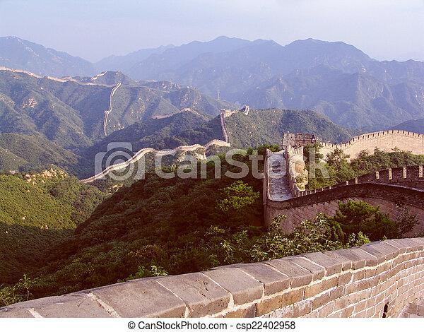 Retro parece una gran pared china - csp22402958