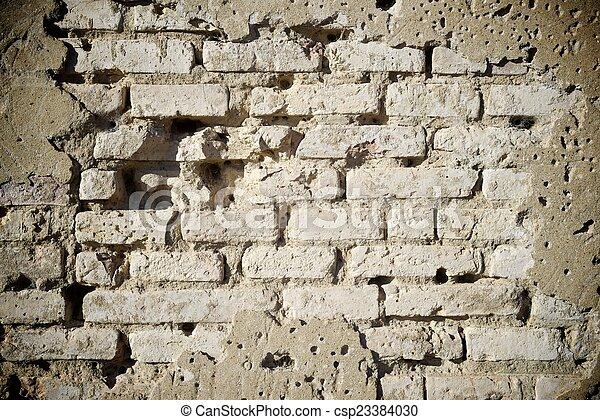 La pared de ladrillos - csp23384030
