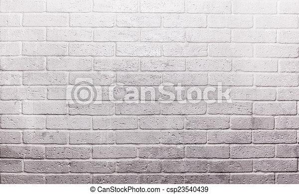 Un muro de ladrillo blanco - csp23540439