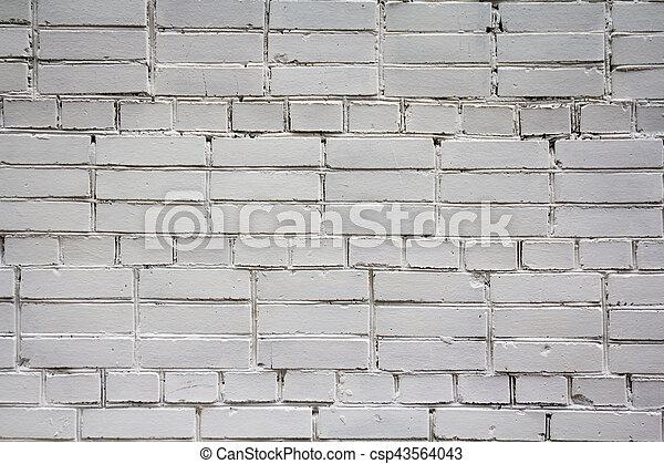 Un muro de ladrillo blanco - csp43564043