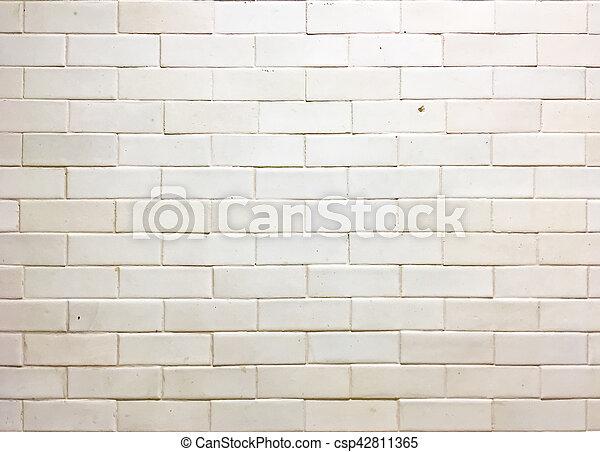 Un muro de ladrillo blanco - csp42811365