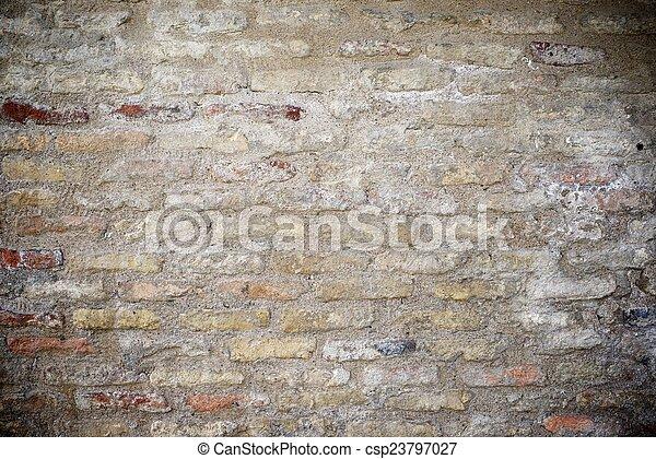 La pared de ladrillos - csp23797027