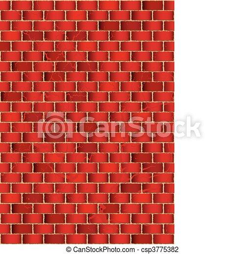 El muro rojo - csp3775382