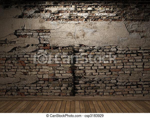 Pared, ladrillo, iluminado. Hecho, iluminado, pared,... ilustración ...