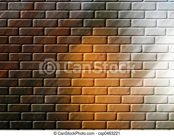 La pared de ladrillos o papel tapiz - csp0463221