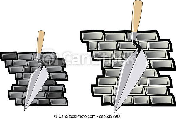 Trawl y Brick Wall - csp5392900