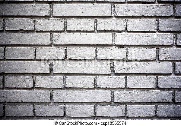 La pared de ladrillos - csp18565574