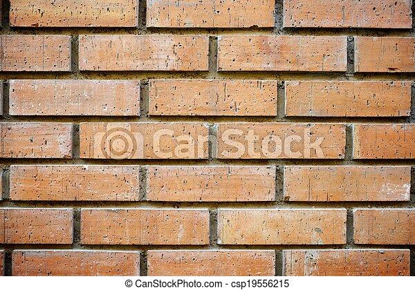 La pared de ladrillos - csp19556215
