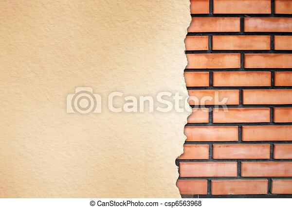 textura de pared de ladrillo - csp6563968
