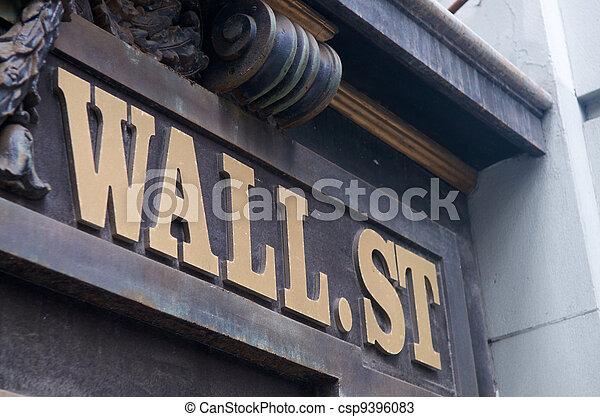 New York Wall Street - csp9396083