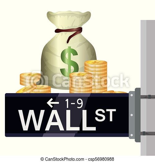 Wall Street New York - csp56980988