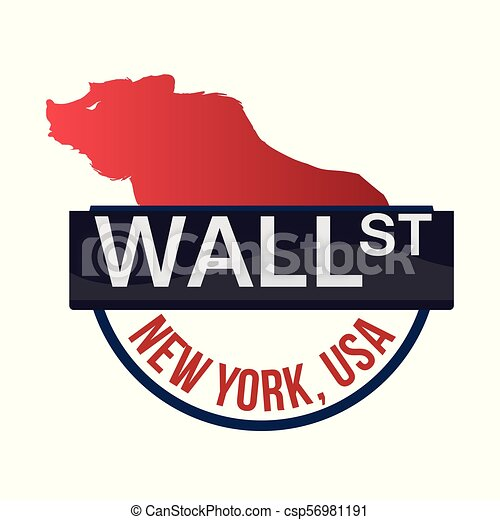 Wall Street New York Bear - csp56981191
