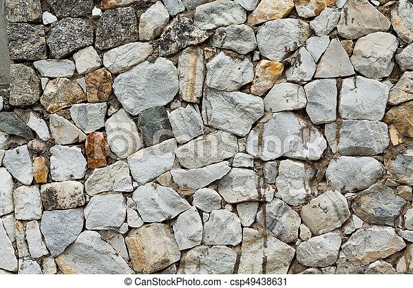 Muro de piedra - csp49438631