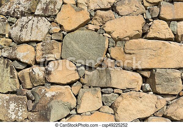 Muro de piedra - csp49225252