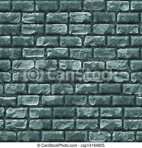 Un muro de ladrillos sin madera - csp14184805
