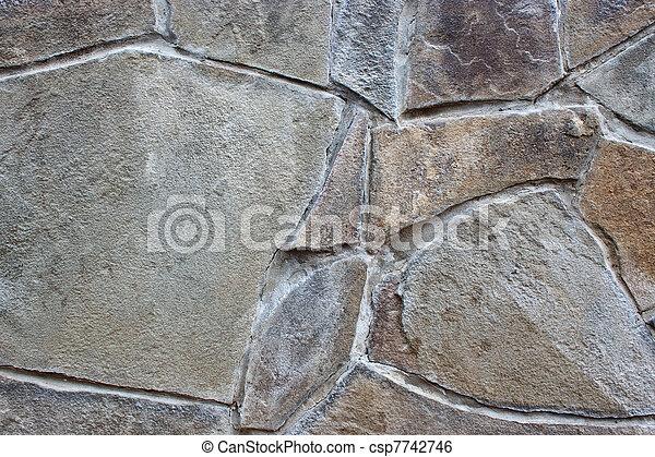 El fondo de una pared de piedra - csp7742746