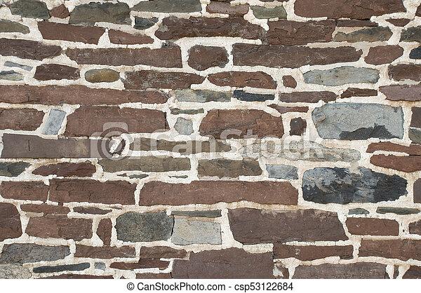 Textura de fondo de pared de piedra - csp53122684
