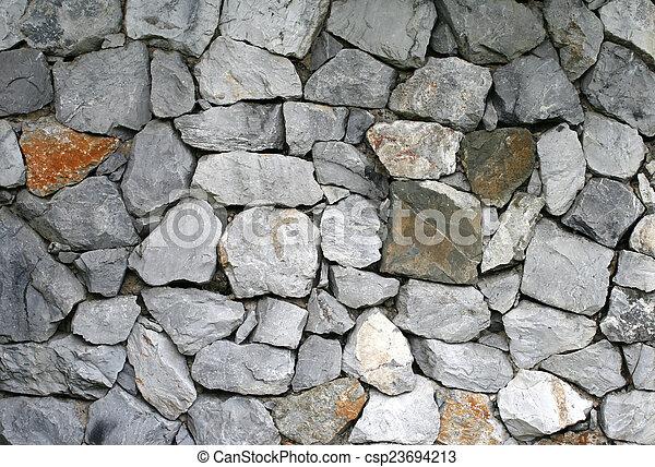 Muro de piedra - csp23694213