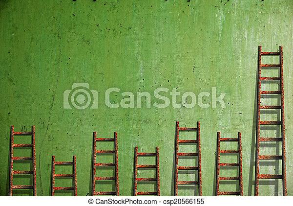 Vieja pared roja pintura dañada - csp20566155