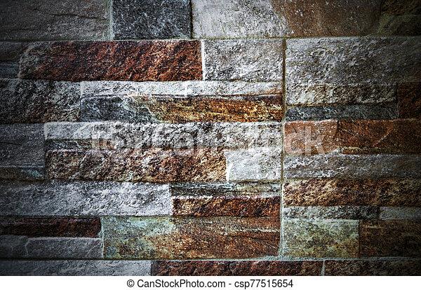pared, plano de fondo, colorido, piedra - csp77515654