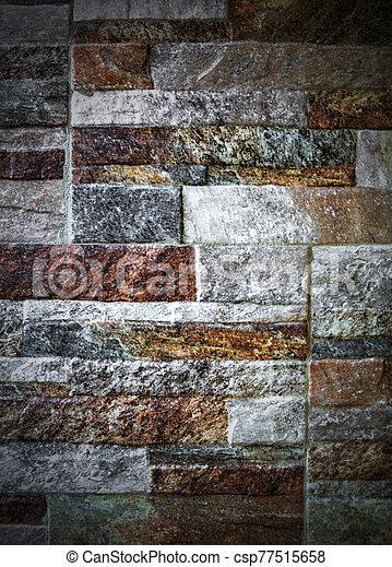 pared, plano de fondo, colorido, piedra - csp77515658