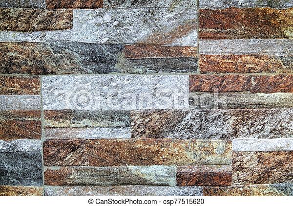 pared, plano de fondo, colorido, piedra - csp77515620
