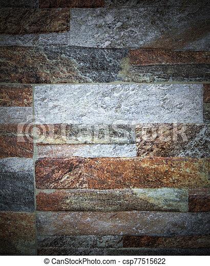 pared, plano de fondo, colorido, piedra - csp77515622