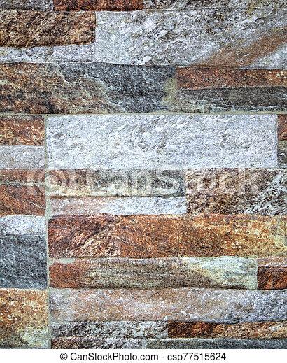 pared, plano de fondo, colorido, piedra - csp77515624