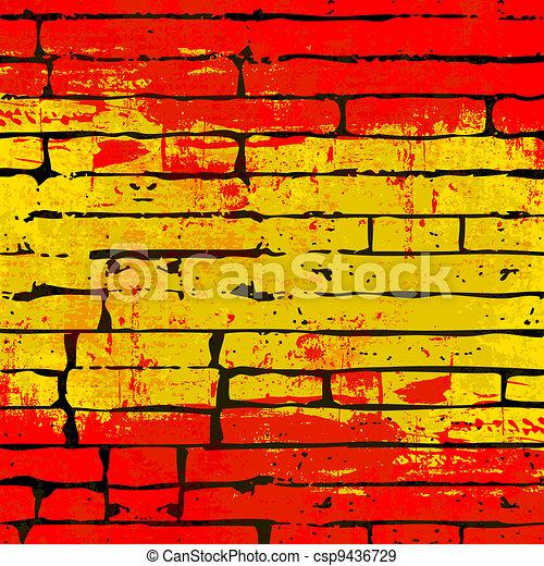Cubierta de ladrillo español - csp9436729