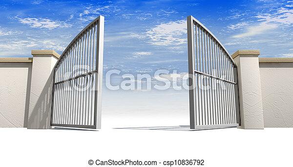 Abran puertas y pared - csp10836792