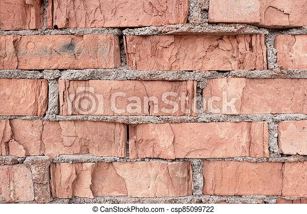 pared, resistido, textura, viejo - csp85099722