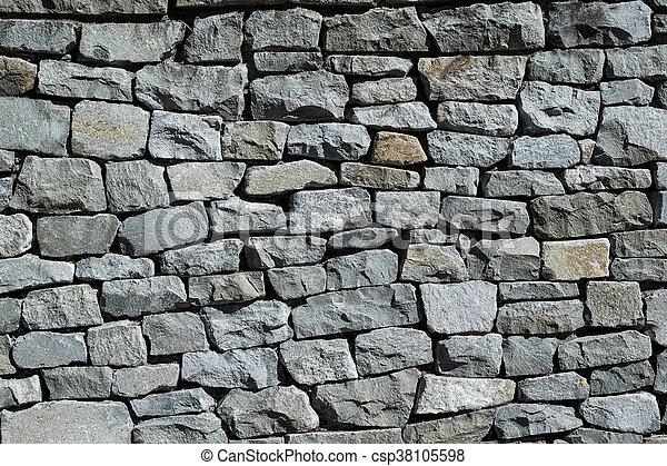 Muro de roca - csp38105598