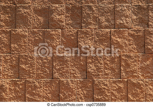 Una pared de bloqueo - csp0735889