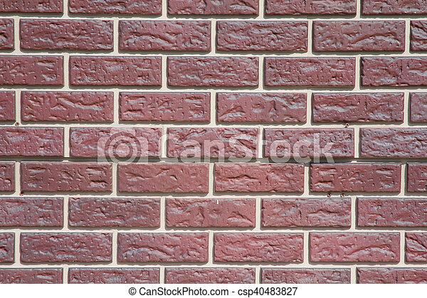 Pared, urbano, ladrillo. Hermoso, urbano, pared, ladrillos,... foto ...