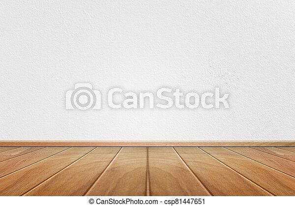 pared, vacío, cemento, interior, habitación, blanco - csp81447651