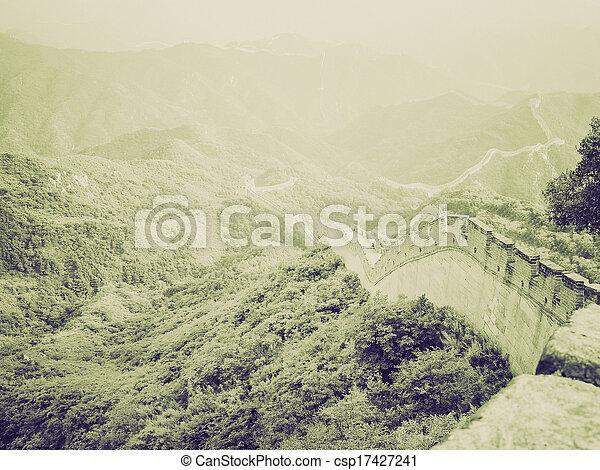 Una antigua sepia china de gran pared - csp17427241