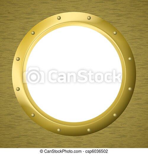 Portilla de ventana en una pared - csp6036502
