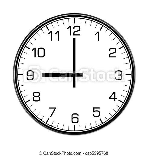 parede, clássicas, relógio - csp5395768