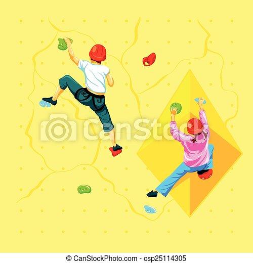 parede, escalando, crianças - csp25114305