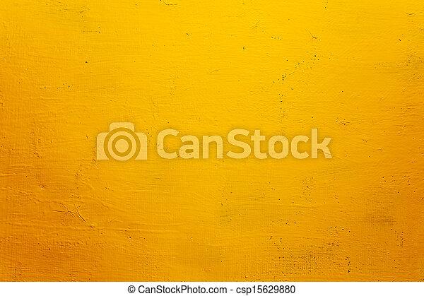 parede, fundo, grunge, amarela, textura - csp15629880