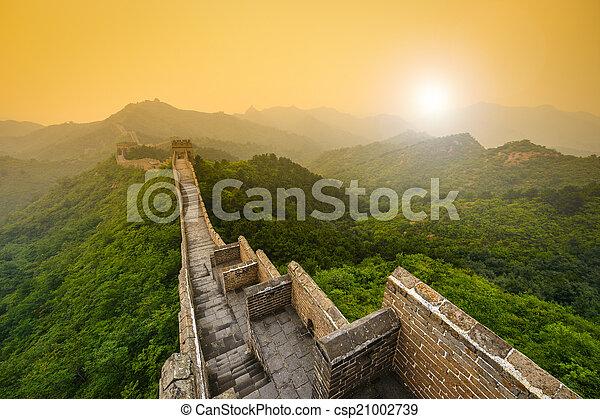 parede, grande, china - csp21002739