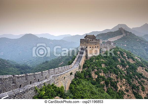 parede, grande, china - csp21196853