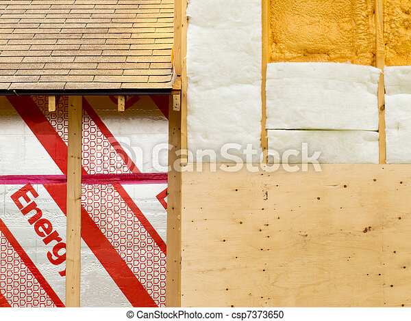parede, isolação, energia, salvar, aquecimento - csp7373650