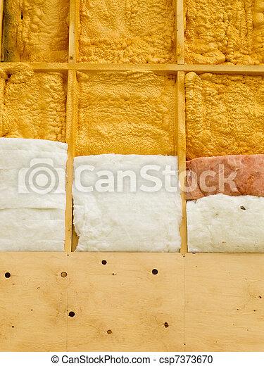 parede, isolação, energia, salvar, aquecimento - csp7373670