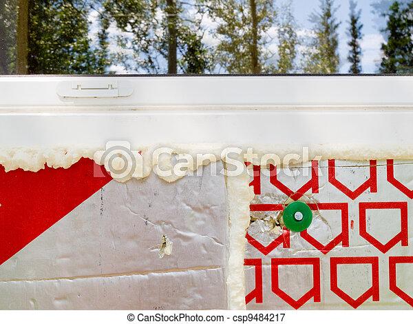 parede, isolação, marcando, salvar - csp9484217