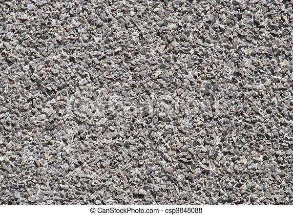 parede, muitos, -, grey., sombras, cascalho, texture. - csp3848088